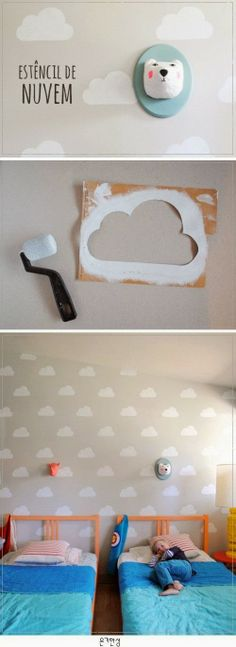 clouds! do it with your kids w/ super-safe eco-paint @lullabypaints.