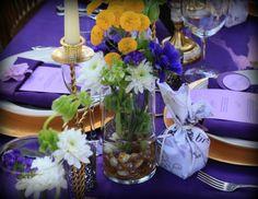 Eggplant, Purple, & Gold--Regal Tablescape.