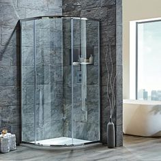 Buy the Harbour Easy Clean Quadrant Shower Enclosure from Tap Warehouse and save on our great range of shower enclosures. Add a place of relaxation to your bathroom for a great price today. How To Clean Aluminum, Quadrant Shower Enclosures, Small Kitchen Sink, Shower Fittings, Shower Kits, Shower Valve, Safety Glass, Single Doors, Glass Shower