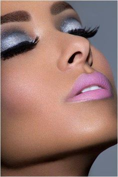 My signature make up. Smokey eye with barbie pink lips is my fave .