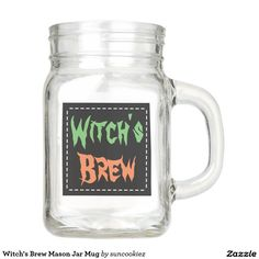 Witch's Brew Mason Jar Mug