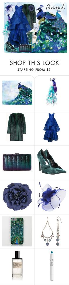"""The Peacock"" by allyssister ❤ liked on Polyvore featuring Epson, Dries Van Noten, Nedret Taciroglu Couture, Jessica McClintock, Balenciaga, Monsoon, Dorothy Perkins, Chan Luu, D.S. & DURGA and NYX"
