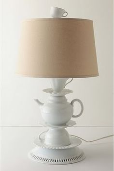 How cute is this #goodwill #diy lamp?!,  Go To www.likegossip.com to get more Gossip News!