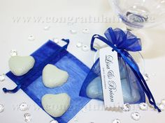 royal blue wedding centerpieces | Pretty organza bags, available in an extensive range of colours ...