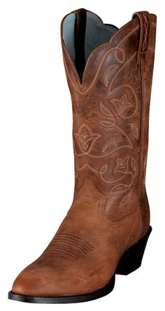 "Womens Heritage Western R Toe 12"" Cowgirl Boots 