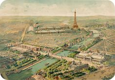 We're taking a step back from the City of Light and the turn-of-the-century sites we've visited so far_, the Tuileries and Champs-Elysees, the Eiffel Tower, Luxembourg Palace, the Exposition Universelle grounds and La Grande Roue, in Vue panoramique de l'Exposition Universelle, 1900. This edition, like all of the prints in our Paris Collection, benefits the 20x200 Artist Fund.