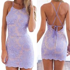 Lavender Lace Mermaid Short Homecoming Dress 2018 Fashion Halter Backless Homecoming Dresses,Open Back Sheath Short Prom Dresses Party Gowns, 472 Backless Homecoming Dresses, Lace Homecoming Dresses, Hoco Dresses, Prom Party Dresses, Party Gowns, Lavender Homecoming Dress, Homecoming Queen, Backless Dresses, Lavender Dresses