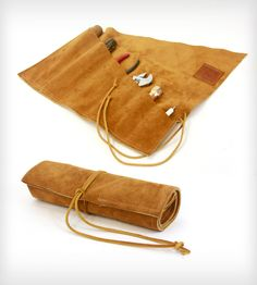 Suede Tool Roll || women need tools too......