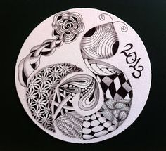 Tangled Ink Art: Diva Challenge The Year of the Snake Year Of The Snake, Tangle Art, Medicine Wheel, Doodle Inspiration, Wood Burning Art, Tangle Patterns, Ink Art, Doodle Art, Art Forms