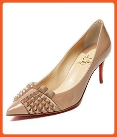 Wiberlux Christian Louboutin Women's Stud Detailed Pointed Toe Real Leather Stilettos 36.5 Pink Beige - Pumps for women (*Amazon Partner-Link)