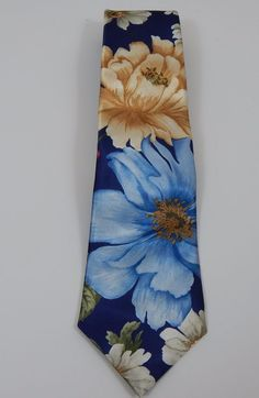 "Classic Jordache Floral Multi-Color  Pattern  Men's Tie 58"" Long 3 1/2"" Wide #Jordache #Tie"