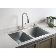 American Standard 20-Gauge Single Basin Drop-In or Undermount ...