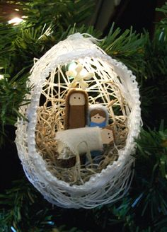 ornament clothespin nativity