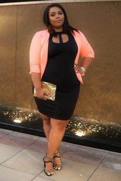 Nicole wearing FTF's Asher Cutout Dress $30.99