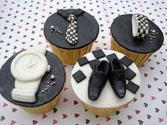 @Kathleen S DeCosmo ♡♡♡ #Cupcakes   Man accessories cupcakes