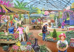 Solve At the Garden Center jigsaw puzzle online with 266 pieces Mind Puzzles, Free Online Jigsaw Puzzles, Puzzle Online, Wheres Wally, Hidden Pictures, Decoupage Vintage, Garden Shop, Plantation, Fauna