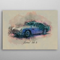 James DB 5 by Abraham Szomor | metal posters - Displate