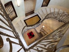 Italy - At the NH Collection Torino Piazza Carlina, tasteful design and a touch of history in a city-center location is a winning combination. Turin Italy, Corsica, Hotel Reviews, Hotels And Resorts, Italy Travel, Stairs, Minimalist, History, Interior