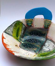 Large open flat based form, copper overload © Linda Styles Ceramics 2014
