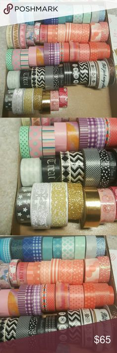 Washi Tape Some new some used  Willing to seperate. Bundle with my planner Stickers :) or fun sticky notes !   Tags cute Kawaii sticky Note sticky Tabs stationary happy planner supplies planning organizing office supplies school supplies back to school scrapbook stickers Martha Stewart craft supplies Erin Condren japanese stationary japanese letter set korean stationary Planner stickers japanese korean stickers Other