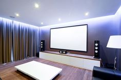 Home Cinema, Media Room, Large Family Residence in Kiev, Ukraine