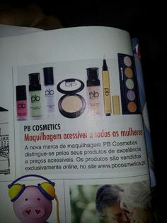 PB Cosmetics at Caras magazine - Portugal