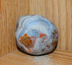 Lake Superior Agate 5 25oz Blue White Nodule w Banding No Reserve | eBay