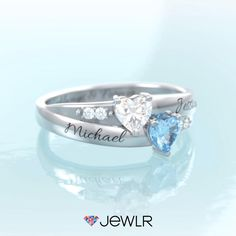 The perfect gift for every occasion - Choose metal, birthstones and engravings. Hundreds of styles to choose from. Fine personalized jewelry handcrafted in North America. Free shipping. Heart Jewelry, Cute Jewelry, Women Jewelry, Personalized Promise Rings, Personalized Jewelry, Dream Engagement Rings, Cute Rings, Birthstone Jewelry, Name Necklace