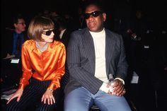 Throwback: Anna Wintour & Andre Leon Talley #fashion
