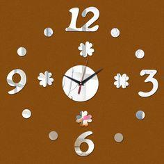 696c59ca94f 2015 frete grátis venda quente sala de estar sala de quartzo agulha separa  3d relógio de parede relógios diy relógio digital presente engraçado