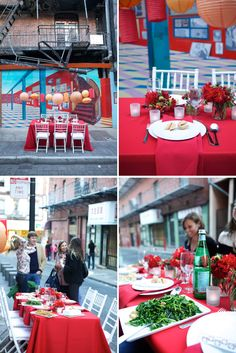 A popup dinner party in Chinatown, complete with lanterns and local takeout. This is amazing.