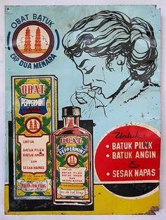"""Indonesia ~ Obat Batuk. """" Ini Obat Tjoema Di Bikin Pada """" : TOKO OBAT PO AN JOK FONG - DJAKARTA._1950s"""