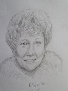 Татьяна Лаврова  - карандашный портрет