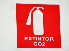 Placas de sinalização : Placas extintor de incêndio.