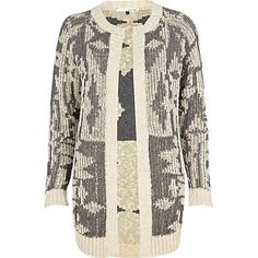 beige print cardigan - cardigans - jumpers / cardigans - women - River Island
