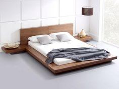 39 Raised Platform Bed to Define Your Sleep Space Easily - Bett Walnut Bedroom Furniture, Bedroom Furniture Design, Bed Furniture, Furniture Ideas, Trendy Furniture, Furniture Market, Furniture Movers, Rustic Furniture, Furniture Makeover