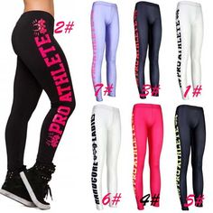Sexy Side letters Sports Pants Force Exercise Women Sports Yoga Tights Elastic Fitness  Only $19.99 => Save up to 60% and Free Shipping => Order Now!  #print leggings outfit #dress #Fashion #girl #Digital #sport #yoga