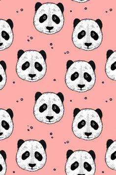 Spring Time, Copenhagen, Panda, Bloom, Coral, Pastel, Green, Pie, Pandas