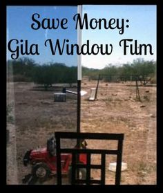 How to apply Gila window film, how much it saves, and a gila heat control window film color comparison. Found at PintSizeFarm.com