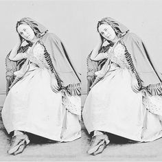 True beauty of an old black and white photography. Image  was taken from Wikimedia commons holding a huge collection of Stereo Cards. This side-by-side image was created with 3DWiggle  image adjusting software.  #3dwiggle #3d #software #app #stereogram #stereoscopic #stereoscopy #photography #blackandwhite #blackandwhitephotography #oldphoto #photooftheday #lady