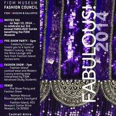 The #FIDM Blog: Attend FIDM's 3rd Annual FABULOUS! Soiree Fundraiser on September 20 at Style Week OC