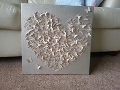 3D butterfly canvas art. wall art.