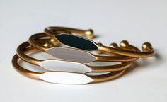 Ombre quartet bracelets.