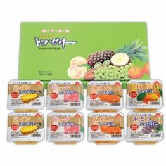 The fabric of the pleasant texture of agar, konjac flour, is a set of Tokozeri was packed with taste in harmony of various fruits. (Pine, peach, mandarin orange, sweet summer, grapes)