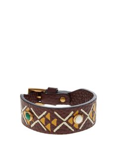Hand-painted leather bracelet | Valentino | MATCHESFASHION.COM