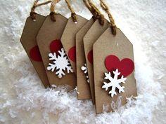 Snowflake Tag - Love the Snowflake - Pkg. of 6. $2.75, via Etsy.