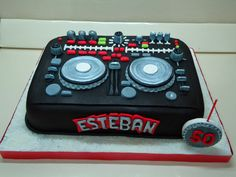 Dance Party Birthday, Dj Party, 10th Birthday, Birthday Cake, Birthday Parties, Birth Cakes, Dj Cake, Vynil, Music Cakes