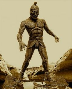 """Talos - The guardian robot of Minoan Crete - ancient technology - seen here in 1963 movie """"Jason and the Argonauts"""""""