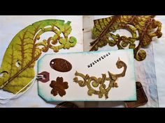 DIE CUTTING A LEAF?! How bizarre and how fun! Junk Journal Ideas! Let's Play! The Paper Outpost! :) - YouTube Do It Yourself Projects, All Video, Altered Books, Junk Journal, Mini Albums, The Creator, Let It Be, Paper, Birthday