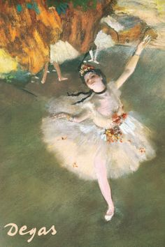 One of my all-time favorite pictures by Edgar Degas - Ballerina (mkc via faye webster).